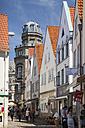 Germany, Bremen, view to alley at Schnoorviertel - WIF000837