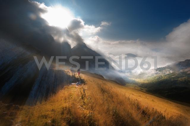 Austria, Salzburg State, Filzmoos, Couple, Two hikers - HHF004826