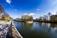 Germany, Berlin, Kreuzberg, view to Landwehrkanal at springtime - BIG000018