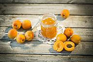 Apricot jam and apricots, Prunus Armeniaca - MAEF008576