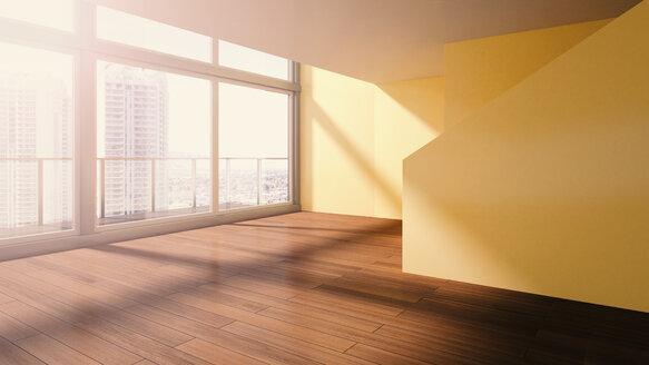 Penthouse, interior view, 3D rendering - UWF000123
