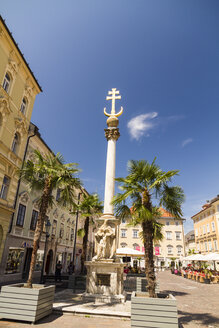Austria, Carinthia, Klagenfurt, Alter Platz with Trinity Column, Plague Column - MBEF001070
