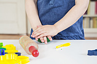 Girl playing with modeling clay - LVF001519