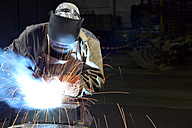 Welder working in a factory - LYF000139