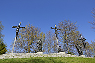 Germany, Bavaria, Upper Bavaria, Calvary hill, Statues of Jesus Christ, Crucifixion - LHF000359