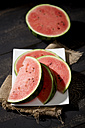 Sliced watermelon on plate - MAEF008683
