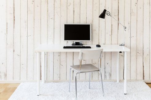 Simple home office with personal computer - DRF000869