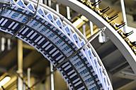 Conveyor belt with brochures in a printing shop - SCH000341