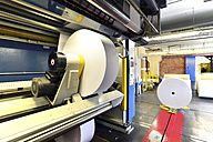 Presses with rolls of paper in a printing shop - SCH000366