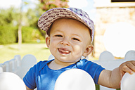 Portrait of male baby outdoors - GDF000343