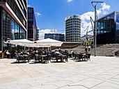 Germany, Hamburg, HafenCity, Magellan-Terrassen, Sandtorkai, Restaurant - AM002489