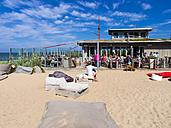 Germany, Schleswig-Holstein, Wangels, restaurant at beach Weissenhaeuser Strand - AM002509