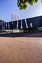 Spain, Barcelona, Telefonica building and Museu Blau - THAF000515