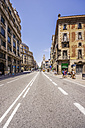 Spain, Barcelona, street in district Sant Pere - THAF000542