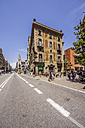 Spain, Barcelona, street in district Sant Pere - THAF000543