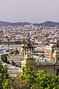 Spain, Barcelona, cityscape from Palau Nacional - THAF000569