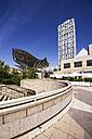 Spain, Barcelona, Barceloneta, Frank Gehry fish sculpture - THA000579