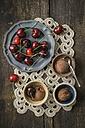 Chocolate cherry icecream with sweet cherries - ECF000692