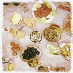 Assortment of food for dinner - GW002918