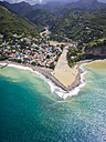 Caribbean, St. Lucia, aerial photo of village Canaries - AMF002537
