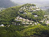 Caribbean, St. Lucia, aerial photo of luxury villas at Rodney Bay - AM002529