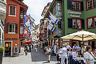 Switzerland, Zurich, view to Augustinergasse in the old town - EJW000425