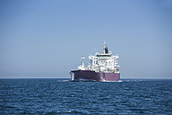 Spain, Andalusia, Strait of Gibraltar, Gas tanker - KBF000073