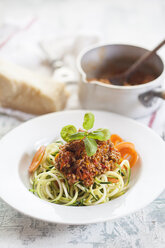 Zoodles, Spaghetti made from Zucchini, with bolognese sauce - SBDF001014
