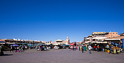 Africa, Morocco, Marrakech, Market at Djemaa el-Fna square - AM002550