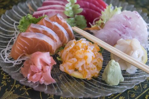 Fresh sashimi raw fish plate - ABAF001429
