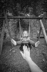 Little boy on swing - MW000066