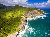 Caribbean, St. Lucia, aerial view of Chaloupe Bay - AMF002569