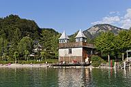 Austria, Salzburg State, Fuschlsee Lake, Fuschl am See, Bathhouse and beach - SIEF005676