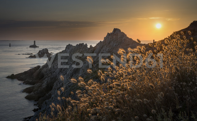 France, Bretagne, Cap Sizun, Pointe du Raz, sunset - MKFF000026