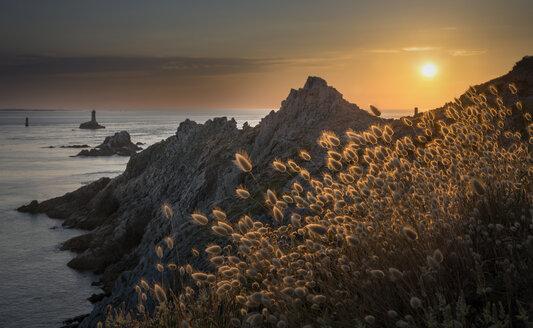 France, Bretagne, Cap Sizun, Pointe du Raz, sunset - MKFF000026