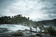 Switzerland, Canton of Schaffhausen, Schaffhausen, Rhine falls with Laufen Castle - ELF001209