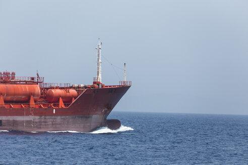 Spain, Andalusia, Tarifa, Strait of Gibraltar, Chemical tanker - KBF000080