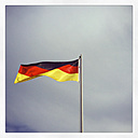 German flag blowing in the wind - GWF003003