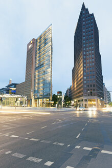 Germany, Berlin, high-rise buildings of Renzo Piano and Hans Kollhoff at Potsdam Square - MEM000365
