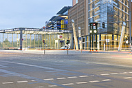 Germany, Berlin, empty street at Potsdam Square - MEM000367