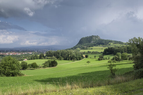 Germany, Baden-Wuerttemberg, Constance district, Hegau, Hohentwiel after summer storm - ELF001239