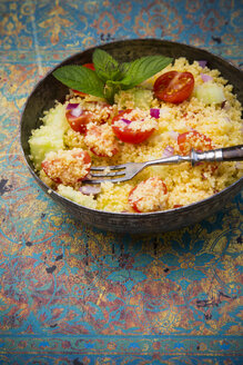 Taboule, Couscous Salad with tomato, cucumber, red onion and peppermint - LVF001731