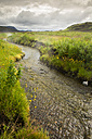 Iceland, landscape with creek getting water from hot springs - FCF000361