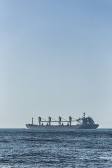 Spain, Andalusia, Tarifa, Strait of Gibraltar, Cargo ship - KB000088