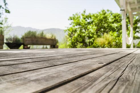 Empty wooden terrace - TCF004175