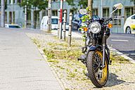 Germany, Berlin, parking motorbike - BIG000026