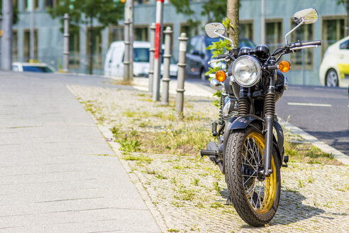 Germany, Berlin, parking motorbike - BIG000026