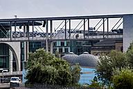 Germany, Berlin, view to skywalk of Marie-Elisabeth-Lueders-Building - BIGF000027