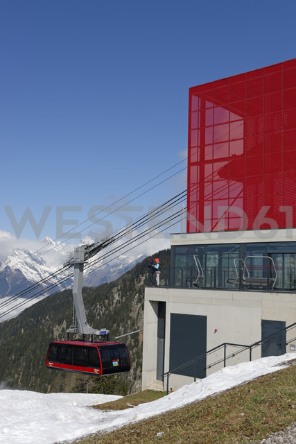 Italy, Alto Adige, Southern Tyrol,  Top station with gondola lift Meran 2000 - LB000895