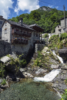 Switzerland, Ticino, Valle Onsernone, Water mill in the mountian village Vergeletto - WEF000192
